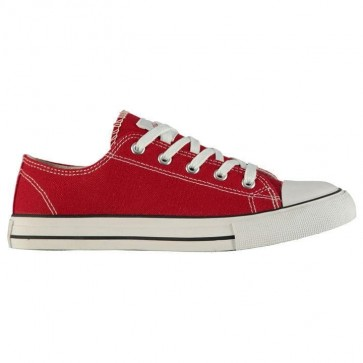 Lee Cooper Canvas Lo Shoes Ladies Red