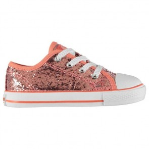 SoulCal Low Infants Canvas Shoes Pink Glitter