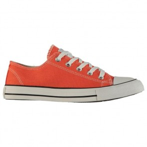 Lee Cooper Canvas Lo Shoes Ladies Coral