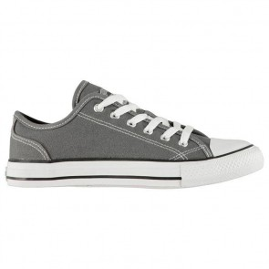 SoulCal Canvas Low Ladies Canvas Shoes Charcoal