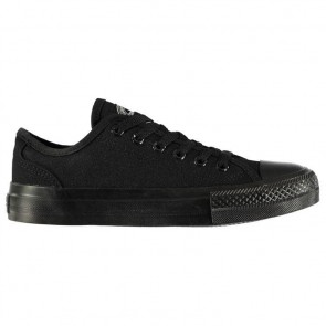 SoulCal Canvas Low Ladies Canvas Shoes Black Mono