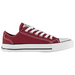SoulCal Canvas Low Ladies Canvas Shoes Burgundy