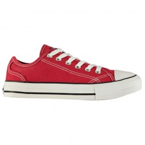 SoulCal Canvas Low Ladies Canvas Shoes Red