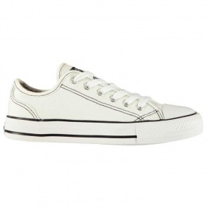 SoulCal Canvas Low Ladies Canvas Shoes White/White