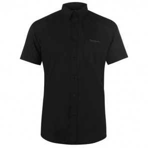 Short Sleeve Shirt Mens - Plain Black
