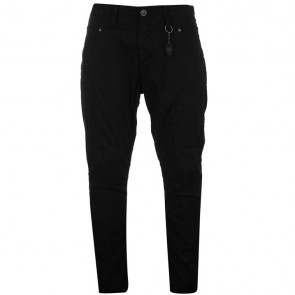 883 Police Vialli Mens Chinos - Black.