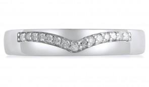 Revere 9ct White Gold 0.06ct tw Diamond Wishbone Ring