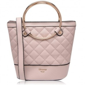 Dune Ring Handle Quilted Handbag Nude