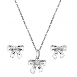 Accents by Hot Diamonds Silver Pendant and Earrings Set