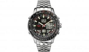 Accurist Men's Stainless Steel Combination Bracelet Watch