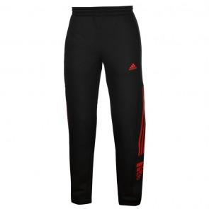 Adidas 3 Stripe Logo Fleece Pants Mens - Black/Red.