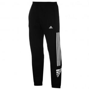 Adidas 3 Stripe Logo Fleece Pants Mens - Black/White.