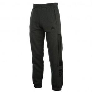 Adidas 3 Stripe Logo Fleece Pants Mens - Grey/Black.