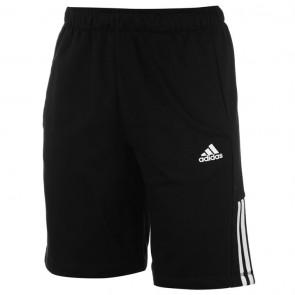 Adidas 3Stripe Shorts Mens - Black/White.