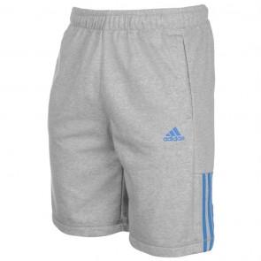 Adidas 3Stripe Shorts Mens - Grey/Royal.