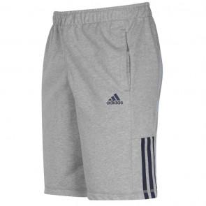 Adidas 3Stripe Shorts Mens - Med Grey/Navy.