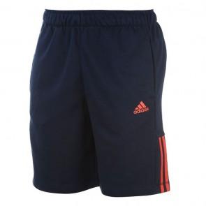 Adidas 3Stripe Shorts Mens - Navy/Red.