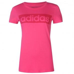 Adidas Linear TShirt Womens - Eqt Pink.