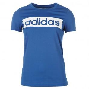 Adidas Linear TShirt Womens - EqtBlue/White.