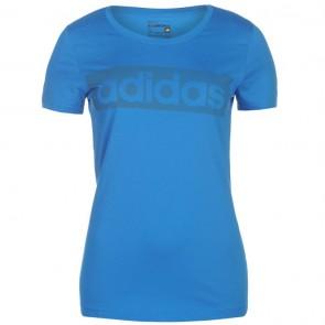 Adidas Linear TShirt Womens - Shock Blue.