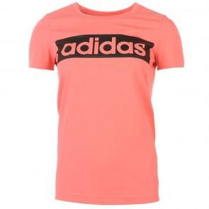 Adidas Linear TShirt Womens - SuperBlush.
