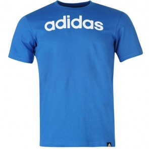Adidias Linear Logo T Shirt Mens - Blue.