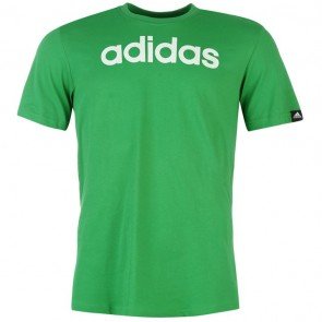 Adidias Linear Logo T Shirt Mens - Green.