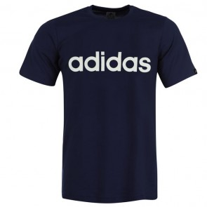 Adidias Linear Logo T Shirt Mens - Navy.