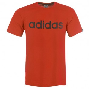 Adidias Linear Logo T Shirt Mens - Orange.