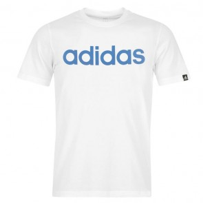 Adidias Linear Logo T Shirt Mens - White.