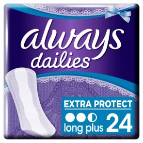 Always Dailies Long Plus Panty Liners 24 Pack.