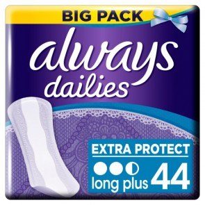 Always Dailies Long Plus Panty Liners 44 Pack.