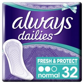 Always Dailies Normal Panty Liners 32 Pack.