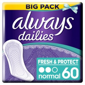 Always Dailies Normal Panty Liners 60 Pack.