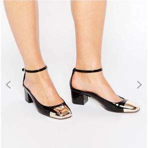 ASOS SUGAR BABY Heels - Black Patent.