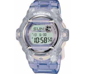 Baby-G by Casio Ladies' Lilac LCD Watch