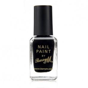 Barry M Nail Paint Black.
