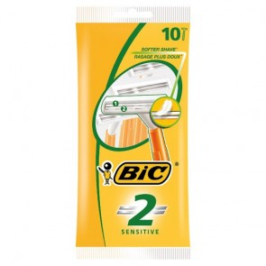 Bic 2 Sensitive Disposable Razor 10'S.