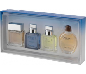 Calvin Klein 4 Piece Men's Fragrance Gift Set.