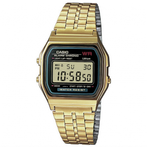Casio LCD Gold Stainless Steel Bracelet Watch