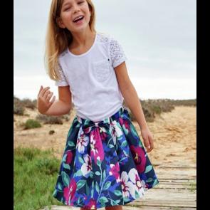Cherokee Girls Large Flower Print Skirt.