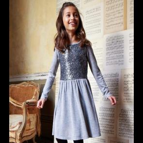 Cherokee Girls Sequin Dress - Silver.