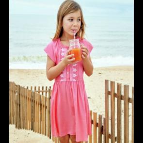Cherokee GirlsEmbroidered Dress - Pink.