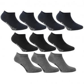 Donnay 10 Pack Trainer Socks -Dark Asst.