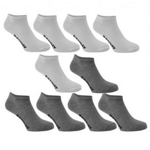 Donnay 10 Pack Trainer Socks - White.