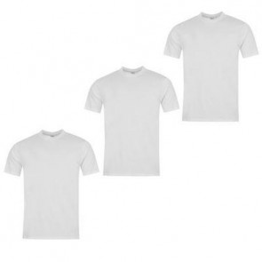 Donnay 3 Pack T Shirts Mens - White.