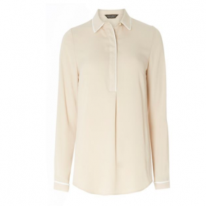 Dorothy Perkins Tipped Placket Shirt - Stone.