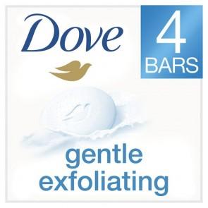 Dove Gentle Exfoliating Cream Bar 4X100g.