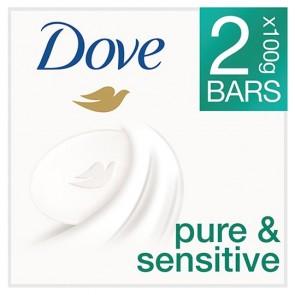 Dove Pure And Sensitive Bar Soap 2X100g.