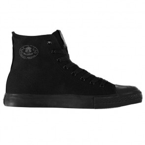 Dunlop Mens Canvas High Top Trainers - Black.
